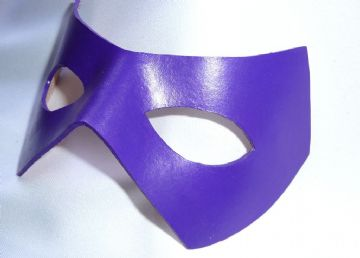 Genuine Leather Riddler style Mask